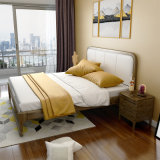 Modern Indoor Furniture Bedroom Set Solid Wood Bed for Home