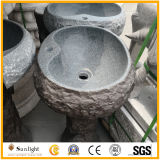Wholesale Natural Stone Hand Carved Granite Pedestal Wash Basin for Indoor, Outdoor