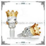 Glass Water Pipe Hookah Tobacco Smoking Accessory Fancy Glass Skull Bowl Crown