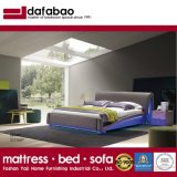 Italian Design Modern Graceful Lighting Leather Bed