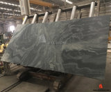 Galaxy Dark Green Granite Cross Cut Slabs with Leather Finish