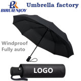 Custom 3 Folding Compact Travel Rain Sun Umbrella Auto Open with Logo Printing for Gifts/Promotion/Advertising