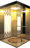 Champagne Gold Mirror Etched Passenger Elevator