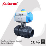 Zhejiang Supplier Pneumatic Actuated Plastic Ball Valve