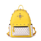 High Quality Designer Punk Stylish Fashion Leather Backpack for Girls