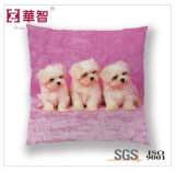 Dog Printed Cushion, Bed Decorative Square Pillow