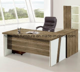 Executive Office Desk with Bookcase & Movable Drawers Cabinet