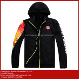 2018 Guangzhou Factory Fashion Design Full Printing Polyester Black Jackets Coat for Women (J239)