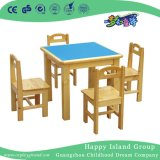 Shcool Rustic Wooden Rectangle Table and Chairs Furniture (HG-3903)