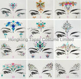 2018 Hongkong Topaz Skin Safe Party Eye Stickers White Studs Body Jewelry Face Tatto Stickers (ES003)