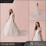 China Supply All Kinds of Ball Gown off-Shoulder Lace Appliqued Sweetheart Neckline Wedding Dress