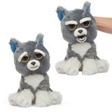 Change Face Sweet-to-Scary Animals Plush Toys Funny Expression