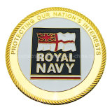 Wholesale Custom Gold Mirror Mint Royal Navy Soft Enamel Challenge Coins as Souvenir Gifts (001)