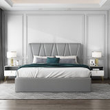 Hyc-Bl16 New Design Modern Nordic Style Solid Wood Bed for Bedroom