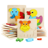 Children′s Wooden 3D Cartoon Animal Puzzle Baby Early Education Small Jigsaw Puzzle Toy