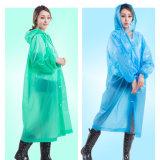 Disposable PEVA Women Man Kids Raincoat Thickened Waterproof Poncho Jacket Adult Clear Transparent Camping Hooded Rainwear Suit