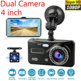 4 Inch HD 1080P Dual Lens Car DVR Touch Screen Dashcam Camera Video Recorder