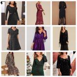 Ready Lady′s Dress Famous Brand Women Clothes International Fashion Design Stock Lot