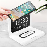 Mobile Phone Accessory Qi 10W Multifunction Alarm Clock Temperature Display Smart Mobile Phone Fast Wireless Charger for iPhone Xiaomi Huawei Samsung etc China