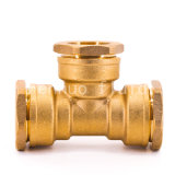 Wholesale Price Equal Tee Brass Compression Fitting for PE Pipe Brass Pipe Fitting DIN 8076