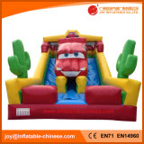 Inflatable Toy/ Jumping Car Theme Dry Slide for Amusement Park (T4-210C)