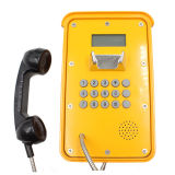 Weatherproof VoIP Telephone Knsp-16 Industrial Telephone with LCD Display for Mine Use Hotline