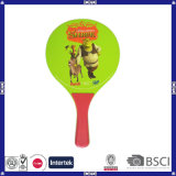 Cheap Colorful Heat Transfer Printing Wood Beach Racket