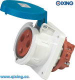 Angle Panel Female Socket for Industry Application (QX1261)