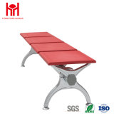 4 Seaters Steel Red Waiting Chair with Adjustable Leg Height