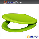 Customized Green Colored Lavatory Seat with Soft Close Hinge