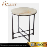 Classic Table Design Marble Coffee Table with Metal Frame