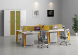 4 Pax Office Workstation with Acrylic Partition and Drawer Unit