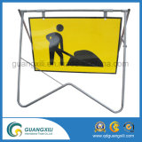 Road Construction Site Portable Iron Sign Board Frames Foldable Traffic Barrier