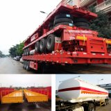 3 Axles 40FT Container Flat Bed / Skeleton /Cargo Side Wall /Utility Cargo /Low Bed / Fuel Tank/ Cement Tank/Dumper /Wing Open Van Curtainer Truck Semi Trailer
