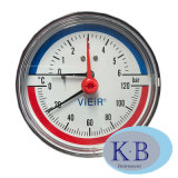 Industrial Usage Dial. 63mm Pressure Temperature Thermometer