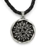 Factory Wholesale Viking Solar Amulet Necklace Sun Symbol Talisman Pendant Germanic Pagan Men Gift