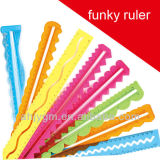 Flexible Solid Color 30cm Stencil Ruler for Kids