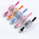 Crystal 2-in-1 Retractable Micro Charging Cable for iPhone