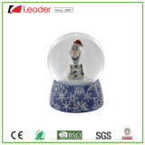 Hand-Painted Resin Craft Snowman Water Globe for Christmas Decoration and Souvenir Gift, OEM Polyresin Snow Globe