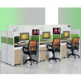 Customized Office Workstation with File Drawers Computer Cubicles