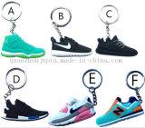 Custom PVC Promotional Sport Shoes Keyring Keychain Key Ring Chain