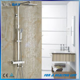 "Thermostatic Bath Tub Shower Mixer with Hand Shower 8"" Rain Showerhead"