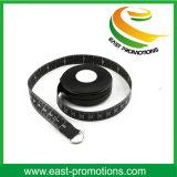 Black Plastic Waist Mini Body Tape Measure for Sport