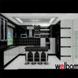 Black and White Simple Baking Finish Kitchen Cabinet Design