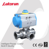 Pneumatic 3 Way Sanitary Ball Valve