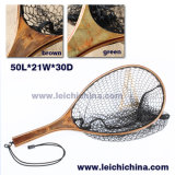 High Quality Burl Wood Handle Landing Net