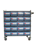 Wire Shelving Trolley, Wire Shelving Trolley with Bin Units (WST23-6214)