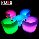 LED furniture color change table and chair