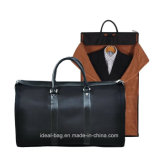 Foldable Nylon PU Leather Business Travel Sport Handbag Garment Suit Cover Carrier Duffle Luggage Bag Wholesale