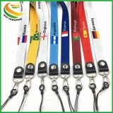 Promotion Gift Cheap Custom Lanyards Country Flag Printed Neck Lanyard